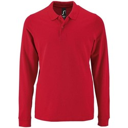 textil Hombre Polos manga larga Sols PERFECT LSL COLORS MEN Rojo