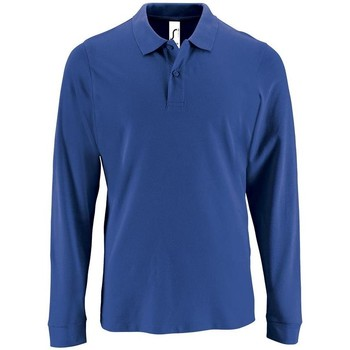 textil Hombre Polos manga larga Sols PERFECT LSL COLORS MEN Azul