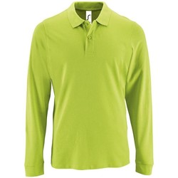 textil Hombre Polos manga larga Sols PERFECT LSL COLORS MEN Verde