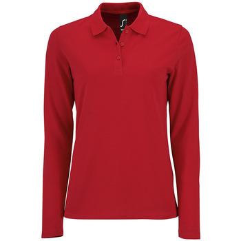 textil Mujer Polos manga larga Sols PERFECT LSL COLORS WOMEN Rojo