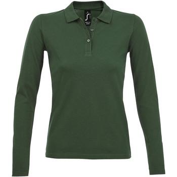 textil Mujer Polos manga larga Sols PERFECT LSL COLORS WOMEN Verde