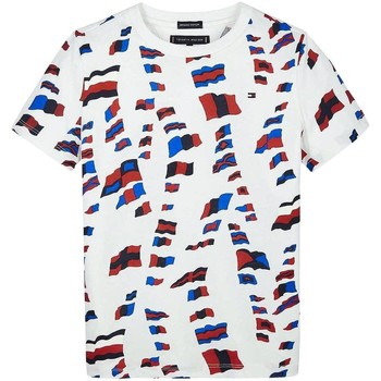 textil Niño camisetas manga corta Tommy Hilfiger Kids AOP TEE Rojo