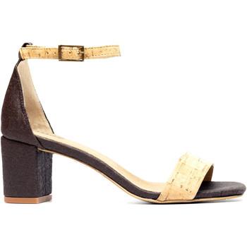 Zapatos Mujer Sandalias Nae Vegan Shoes Margot Pinatex castanho