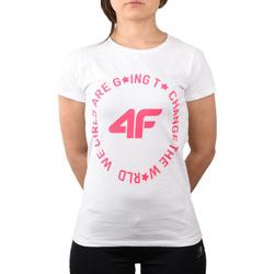 textil Niña Camisetas manga corta 4F Girl's T-shirt Blanc