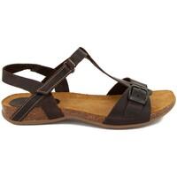 Zapatos Mujer Sandalias Interbios 4462 PIEL MOKA MARRON