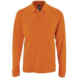 textil Hombre Polos manga larga Sols PERFECT LSL COLORS MEN Naranja
