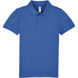 textil Niños polos manga corta Sols PERFECT KIDS COLORS Azul