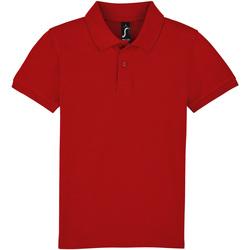 textil Niños polos manga corta Sols PERFECT KIDS COLORS Rojo