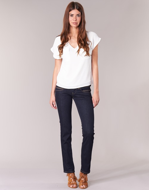 textil Mujer Vaqueros rectos Pepe jeans VENUS Azul / M15