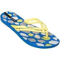 Zapatos Mujer Chanclas Ipanema Mais Tiras Print Fem Blanco,Azul,Amarillos