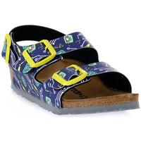 Zapatos Niños Sandalias Birkenstock MILANO ROBOTS BLUE CALZ S Blu