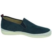 Zapatos Hombre Slip on Vulca-bicha Zapatillas de lona Azul