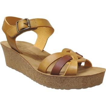 Zapatos Mujer Sandalias Mobils By Mephisto Maryline Cuero amarillo