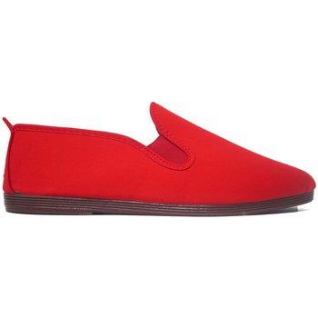 Zapatos Hombre Pantuflas Javer Zapatillas Kunfú  55 Rojo Rojo