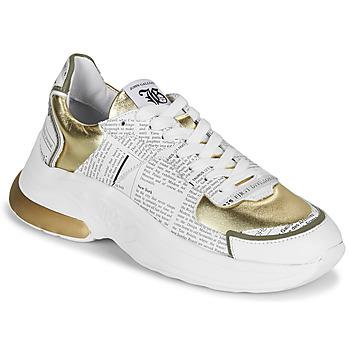 Zapatos Mujer Zapatillas bajas John Galliano 3646 Blanco / Oro