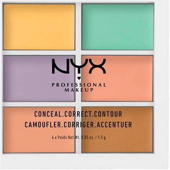 Belleza Mujer Antiarrugas & correctores Nyx Conceal Correct Contour Palette 6x1,5 Gr 6 x 1,5 g