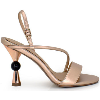 Zapatos Mujer Sandalias Exé Shoes SANDALIA DE TACÓN CON TIRA CHAMPAGNE DIVA-316 Color Champagne