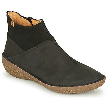 Zapatos Mujer Botas de caña baja El Naturalista BORAGO Negro