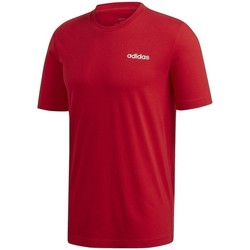 textil Hombre Camisetas manga corta adidas Originals Essentials Plain Tee Rojos
