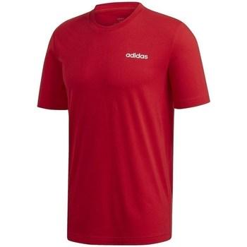 textil Hombre camisetas manga corta adidas Originals Essentials Plain Tee Rojo