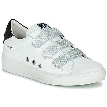 Zapatos Mujer Zapatillas bajas Semerdjian VIP Blanco / Plata