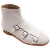 Zapatos Mujer Botines Calce 655 Blanco