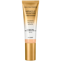 Belleza Mujer Base de maquillaje Max Factor Miracle Touch Second Skin Found.spf20 3-light
