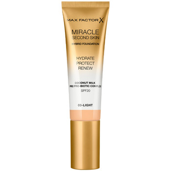 Belleza Mujer Base de maquillaje Max Factor Miracle Touch Second Skin Found.spf20 3-light 30 ml