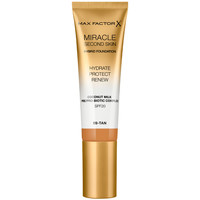 Belleza Mujer Base de maquillaje Max Factor Miracle Touch Second Skin Found.spf20 9-tan  30 ml