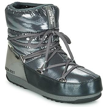 Zapatos Mujer Botas de nieve Moon Boot MOON BOOT LOW SAINT MORITZ WP Gris