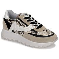 Zapatos Mujer Zapatillas altas Meline TRO1700 Beige / Serpiente