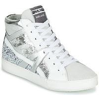 Zapatos Mujer Zapatillas altas Meline IN1363 Blanco / Plateado
