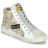 Zapatos Mujer Zapatillas altas Meline NK5050 Beige / Leopardo