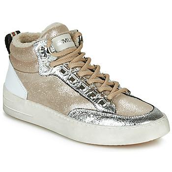 Zapatos Mujer Zapatillas altas Meline STRA5056 Beige / Oro