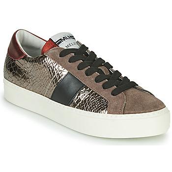 Zapatos Mujer Zapatillas bajas Meline PL1810 Bronce / Rojo
