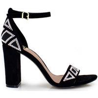 Zapatos Mujer Sandalias Exé Shoes SANDALIA TACÓN PULSERA GEOMÉTRICO BLACK LIDIA-433 Color Negro