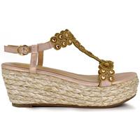 Zapatos Mujer Sandalias Exé Shoes SANDALIA CUÑA TIRAS BRILLANTES J1909004 Color Rosa