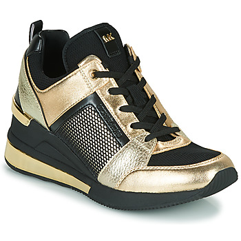 Zapatos Mujer Zapatillas bajas MICHAEL Michael Kors GEORGIE TRAINER EXTREME Negro / Oro