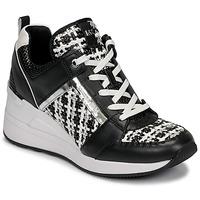 Zapatos Mujer Zapatillas bajas MICHAEL Michael Kors GEORGIE TRAINER Negro / Blanco