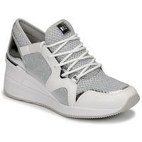 Zapatos Mujer Zapatillas bajas MICHAEL Michael Kors LIV TRAINER Blanco / Plateado