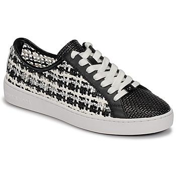 Zapatos Mujer Zapatillas bajas MICHAEL Michael Kors OLIVIA LACE UP Negro / Blanco