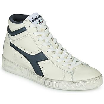 Zapatos Zapatillas altas Diadora GAME L HIGH WAXED Blanco / Azul