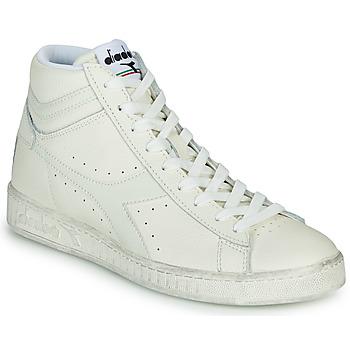Zapatos Zapatillas altas Diadora GAME L HIGH WAXED Blanco