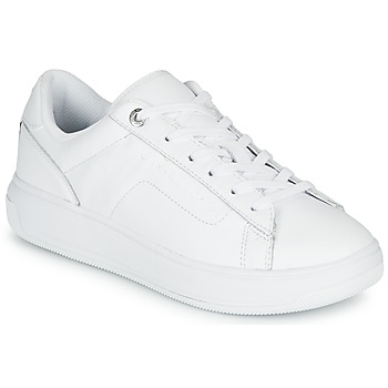 Zapatos Mujer Zapatillas bajas Tommy Hilfiger LEATHER TOMMY HILFIGER CUPSOLE Blanco