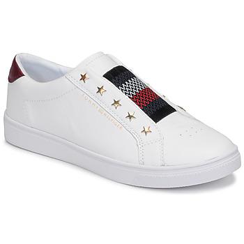 Zapatos Mujer Zapatillas bajas Tommy Hilfiger TOMMY HILFIGER ELASTIC SLIP ON Blanco
