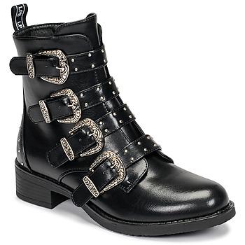Zapatos Mujer Botas de caña baja Les Petites Bombes QUADRI Negro