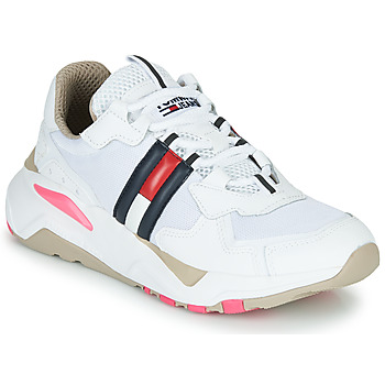 Zapatos Mujer Zapatillas bajas Tommy Jeans WMN TOMMY JEANS COOL RUNNER Blanco / Azul / Rojo