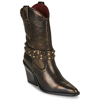 Zapatos Mujer Botines Bronx NEW KOLE Negro / Oro
