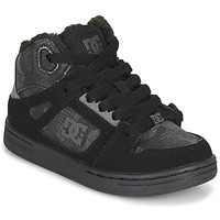Zapatos Niños Zapatillas altas DC Shoes PURE HIGH-TOP Negro / Gris