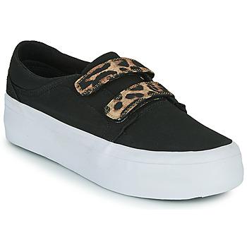 Zapatos Mujer Zapatillas altas DC Shoes TRASE PLATEFORM V Negro / Leopardo